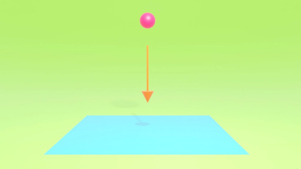 blender重力でオブジェクトが地面に落ちるアニメーション
