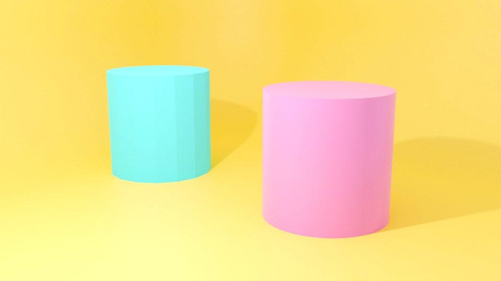 blender円柱を滑らかにする方法