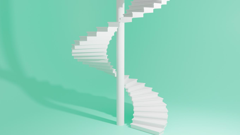 blender螺旋階段の作り方